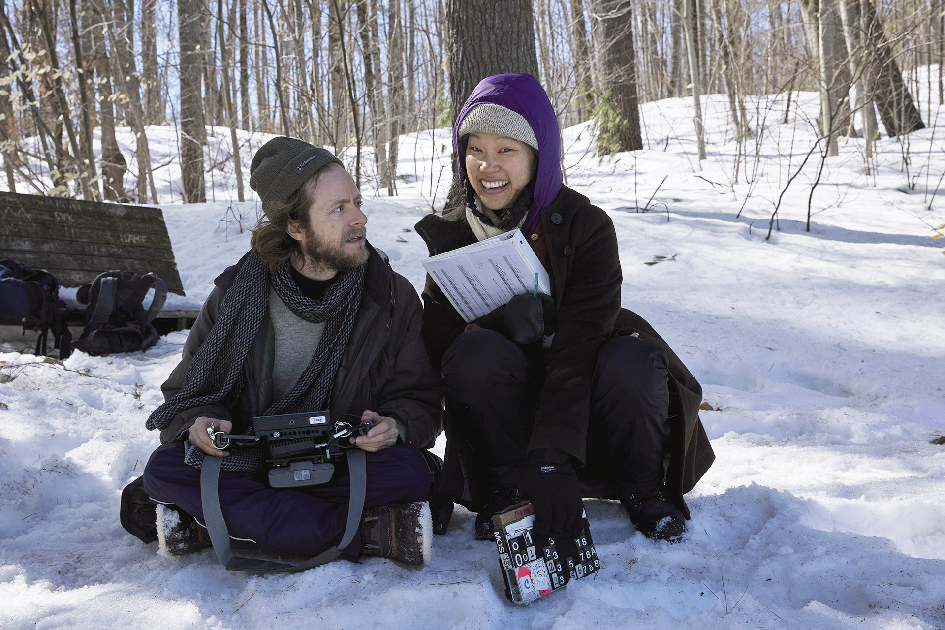 Co-Directors Daniel Schachter and Emily Gan on set in Gatineau QC